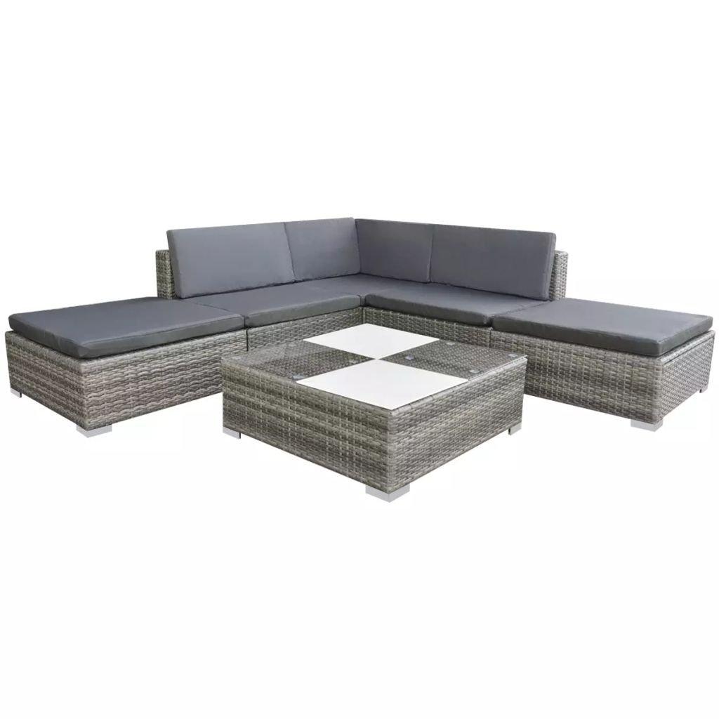 Zahradní sedací souprava Hayden - 15 ks | šedý polyratan