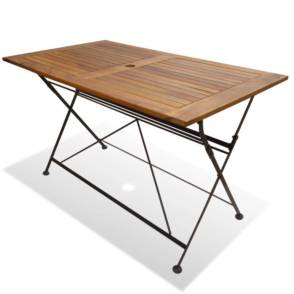 Skládací zahradní stůl - akácie | 120x70x74 cm