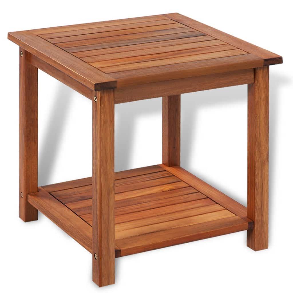 Odkládací stolek z masivního akáciového dřeva | 45x45x45 cm