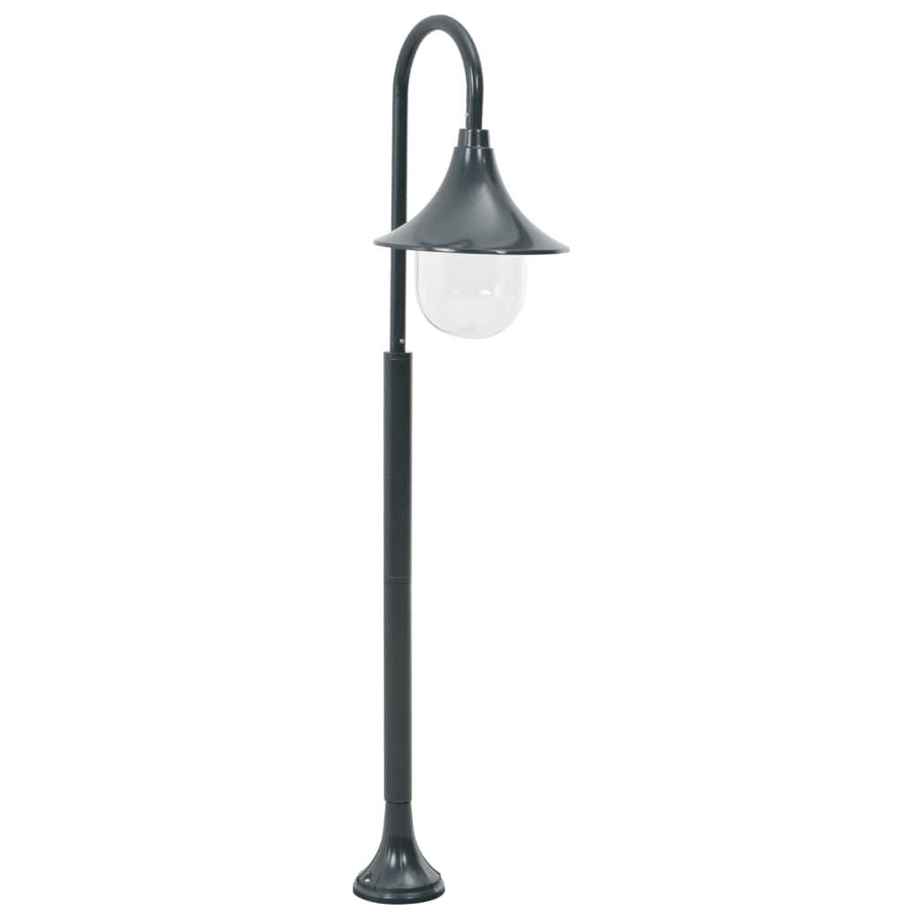 Zahradní sloupová lampa - hliník - zelená | 120 cm