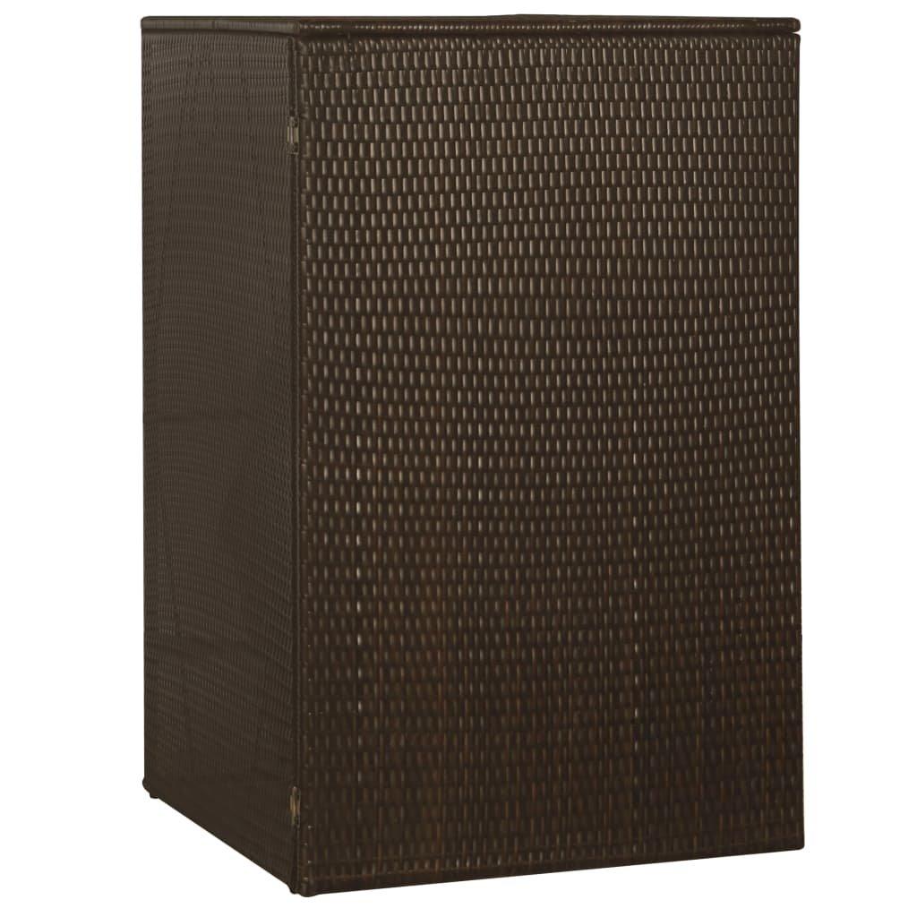 Přístřešek na popelnici - polyratan - 76x78x120 cm | hnědý