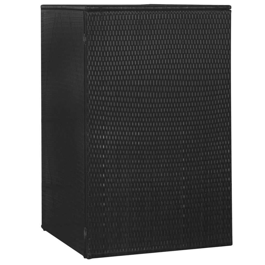 Přístřešek na popelnici - polyratan - 76x78x120 cm | černý