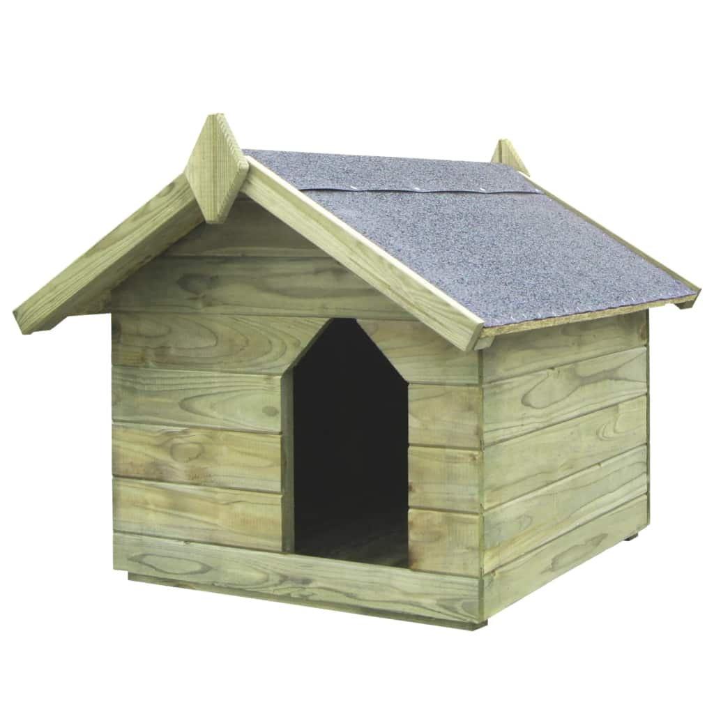 Zahradní psí bouda - otvírací střecha z impregnované FSC borovice