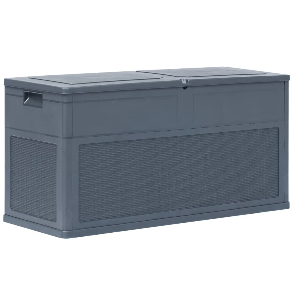 Zahradní úložný Box Antracitový 320l 119x46x60 Cm Perfektnídomovcz