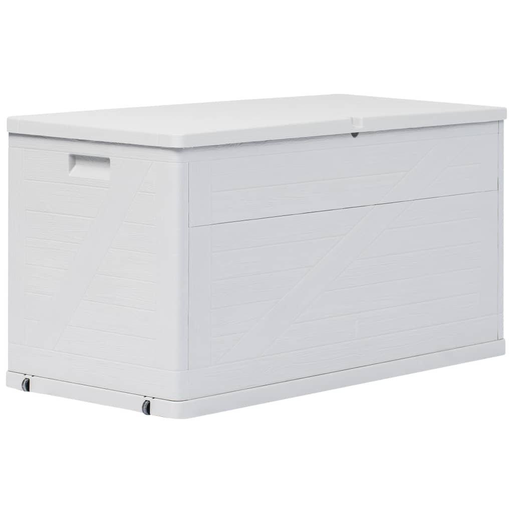 Zahradní úložný box - světle šedý - 420L - 120x56x63 cm