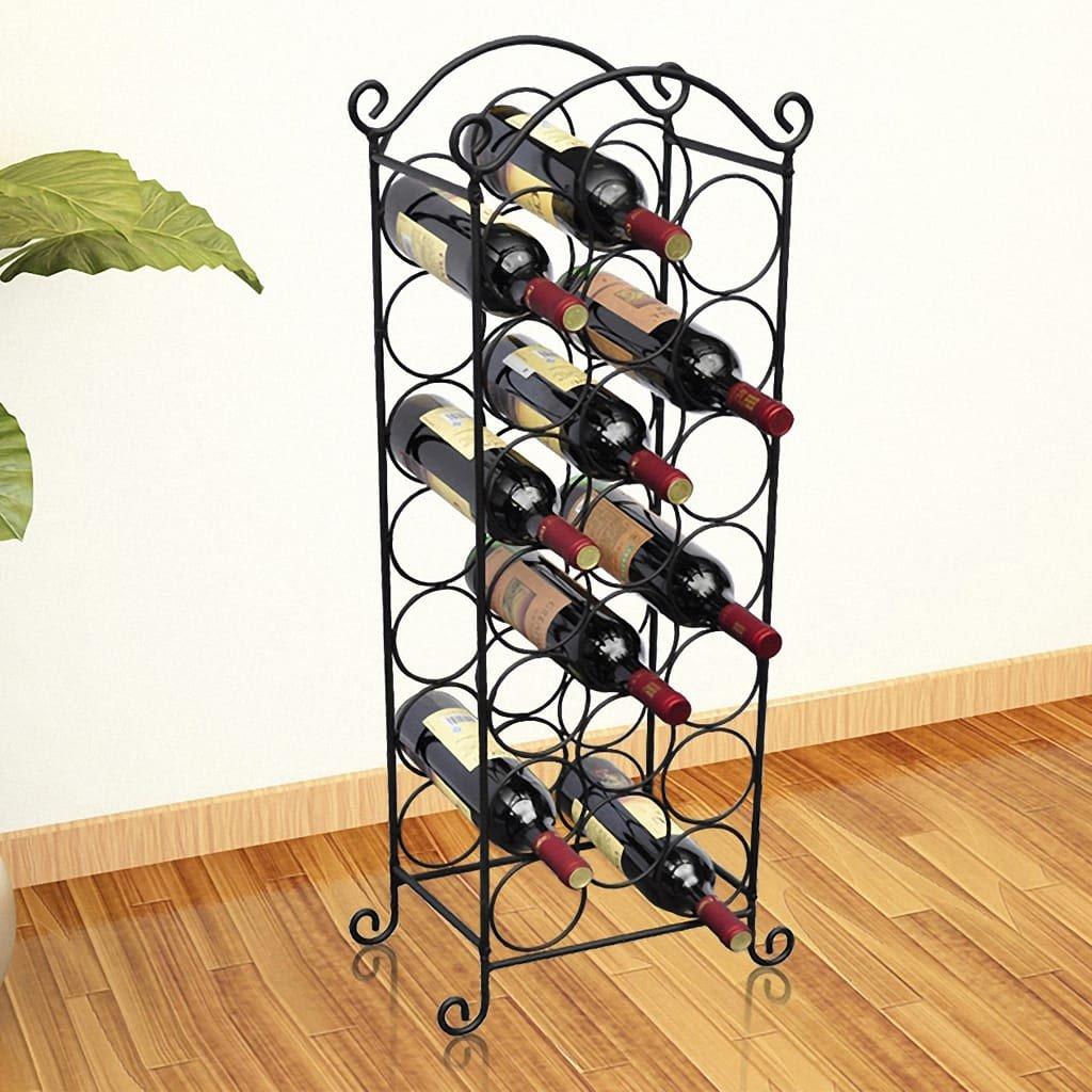 Stojan na víno na 21 lahví | kov