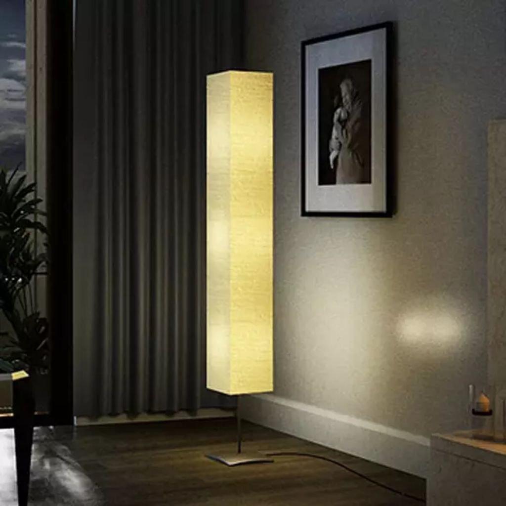 Stojací lampa s ocelovým stojánkem - béžová | 170 cm