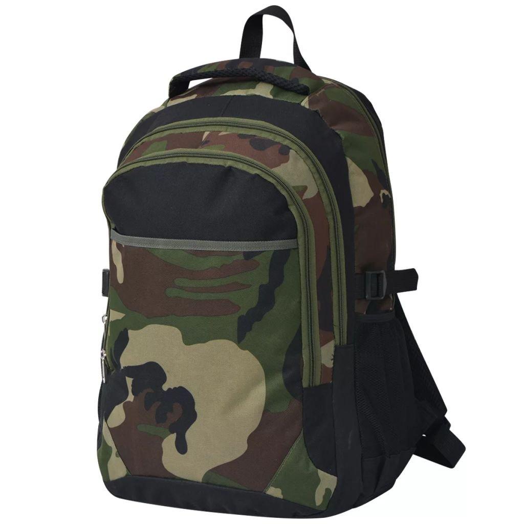 Školní batoh - černý a maskáčový | 40 l