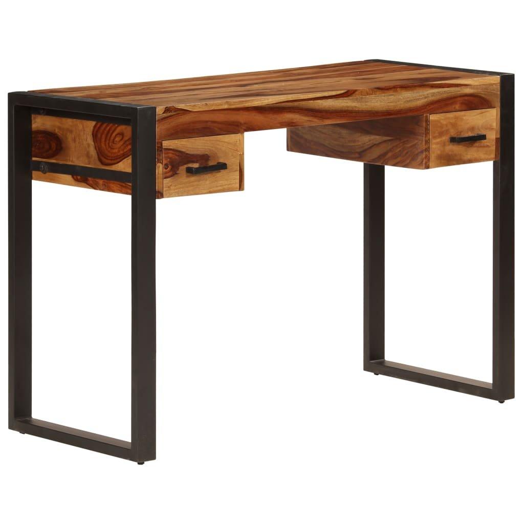 Psací stůl se 2 zásuvkami - masivní sheesham   110x50x77 cm