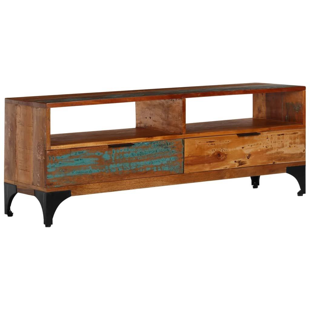 TV stolek -  masivní recyklované dřevo   118x35x45 cm