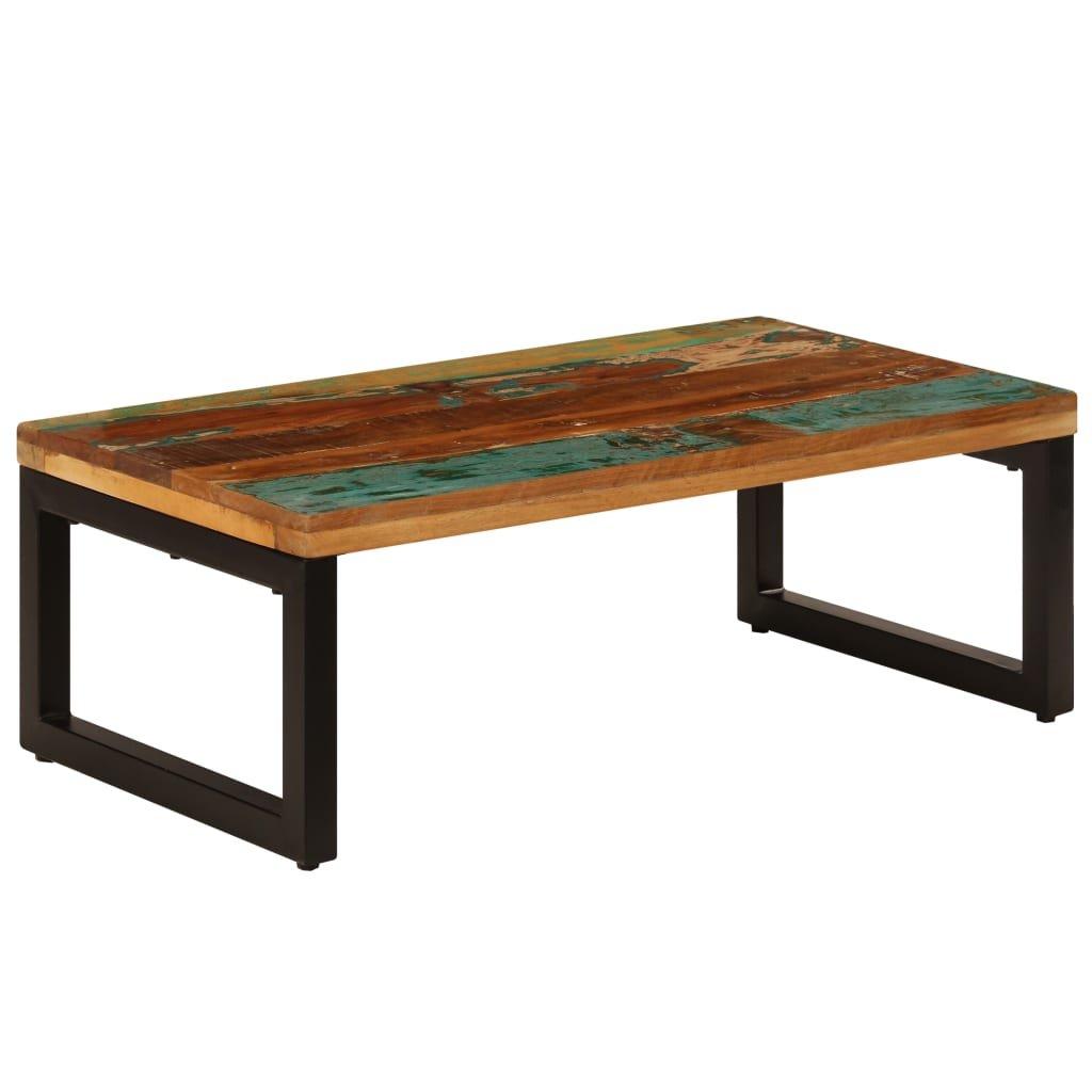 Konferenční stolek - masivní recyklované dřevo a ocel   110x50x35cm