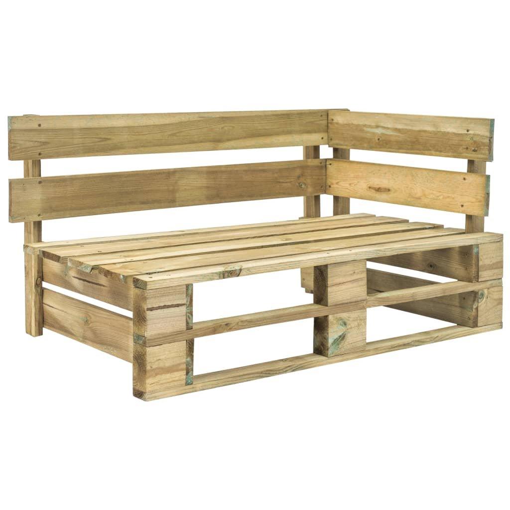 Zahradní rohová lavice z palet - FSC dřevo | zelená