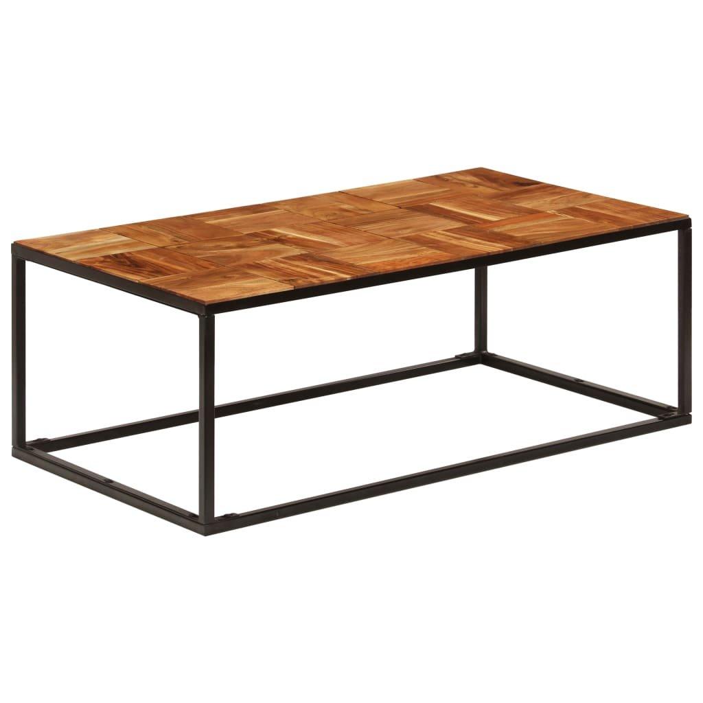 Konferenční stolek - masivní akácie a ocel | 110x40x60 cm