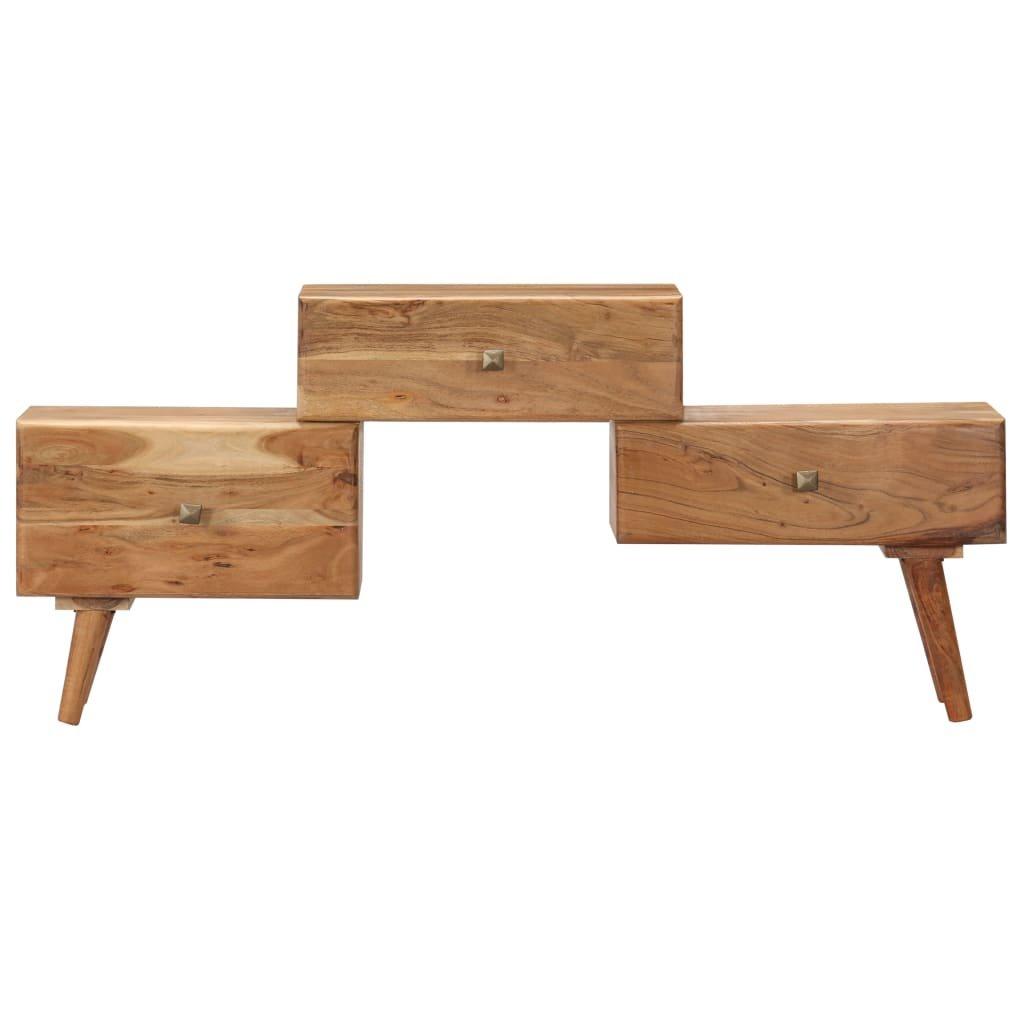 TV stolek -  masivní akáciové dřevo   108x30x49 cm