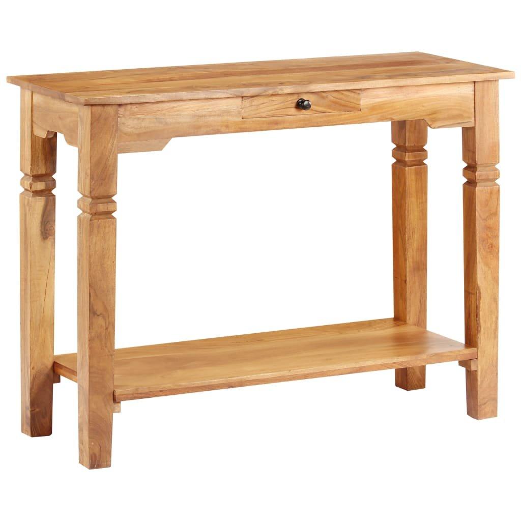 Konzolový stolek - masivní akáciové dřevo | 100x40x76 cm