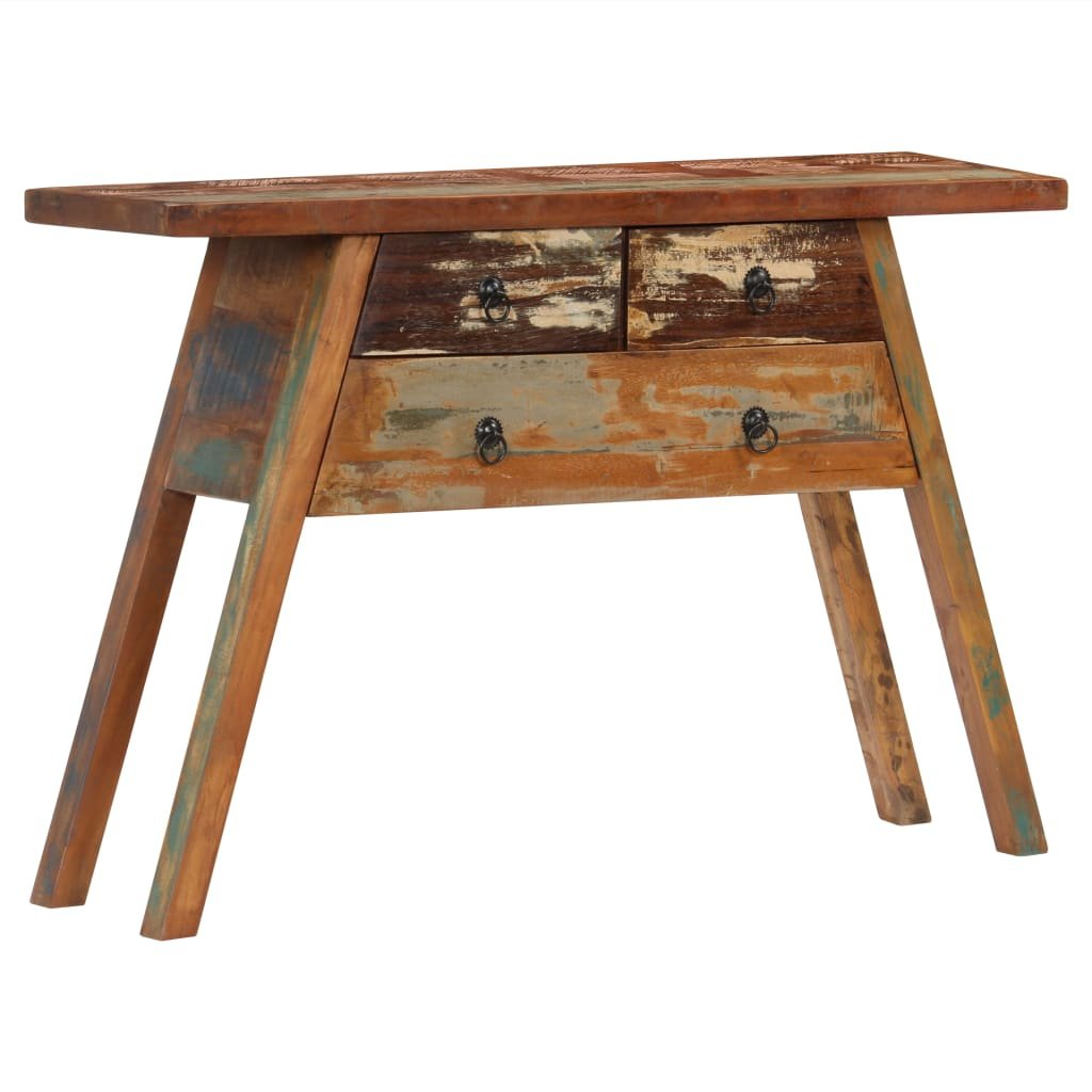 Konzolový stolek - masivní recyklované dřevo | 110x30x75 cm