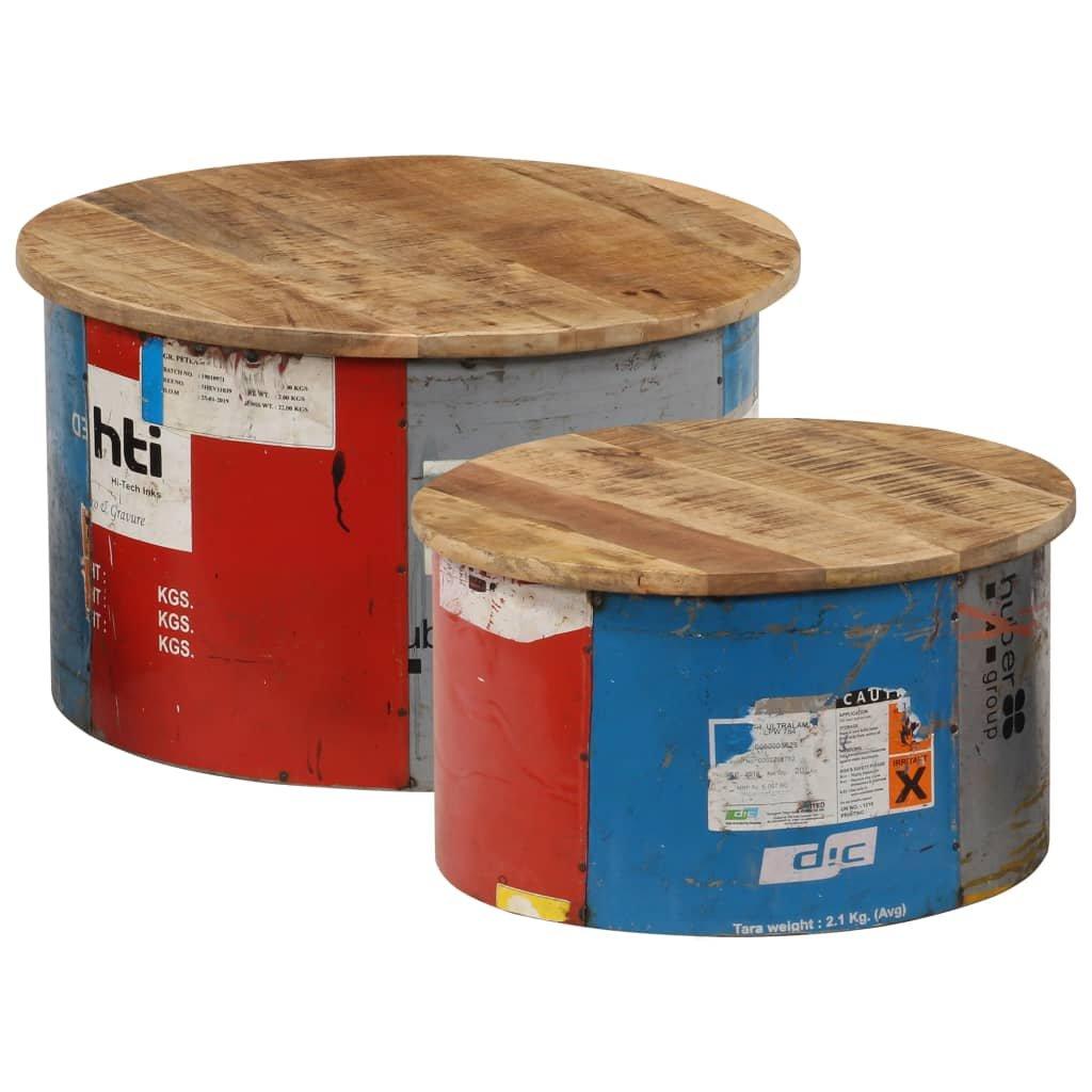 Konferenční stolky - masivní mangovníkové dřevo   2 ks