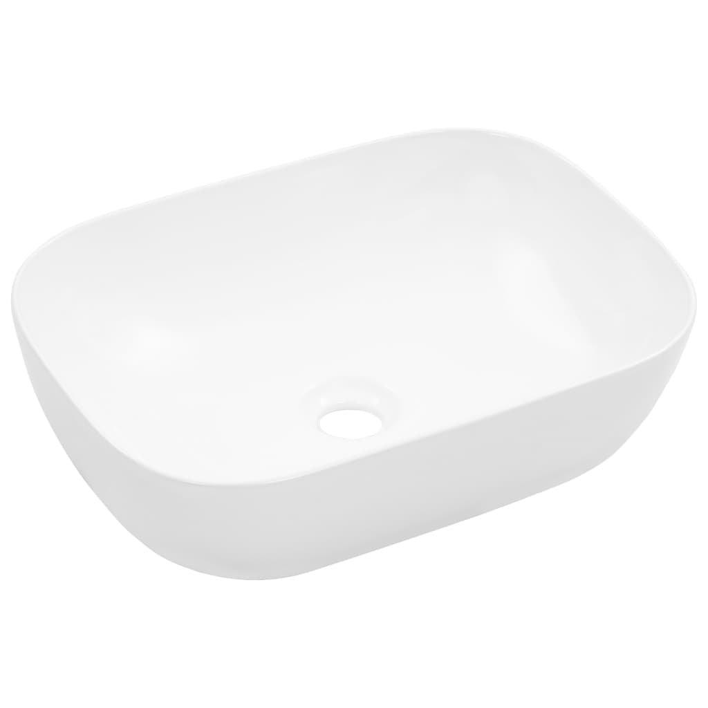 Umyvadlo - keramika - bílé | 45,5x32x13 cm