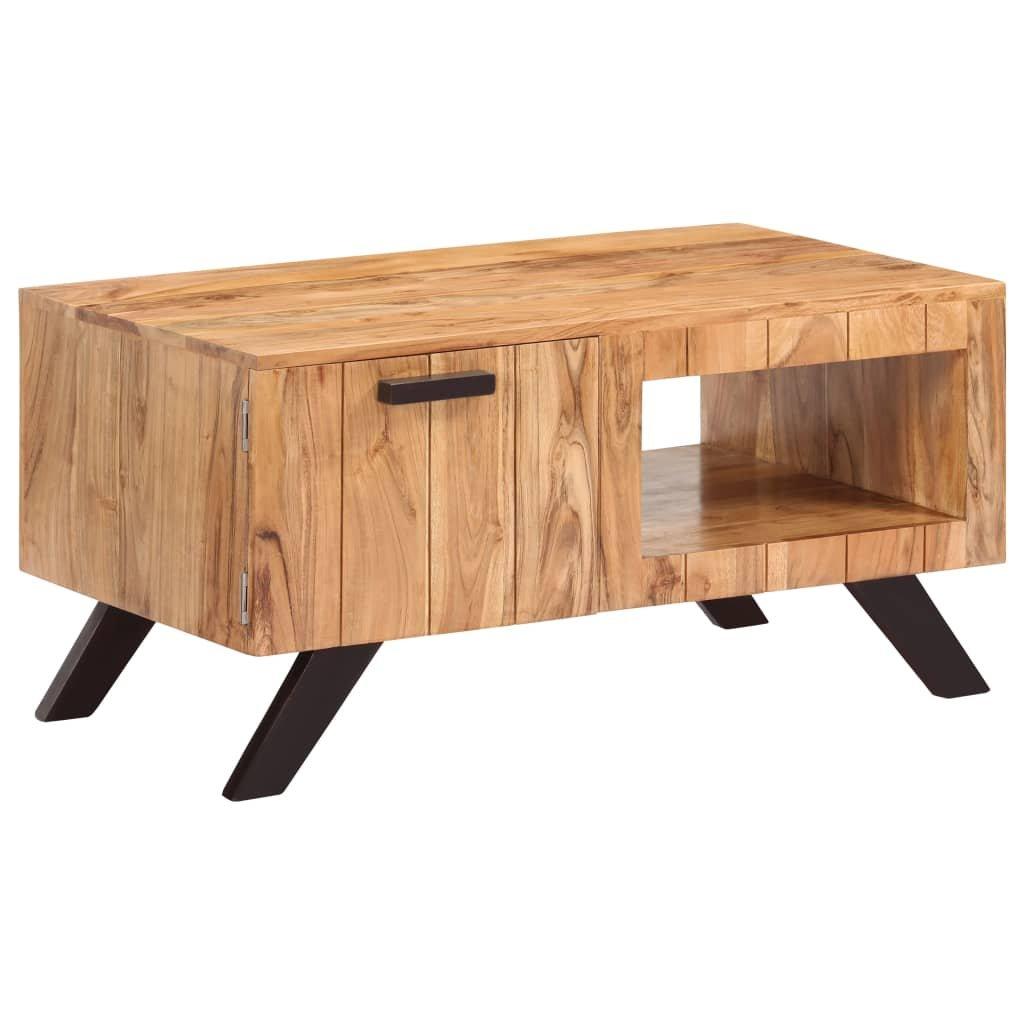 Konferenční stolek - masivní akáciové dřevo | 90x50x45 cm