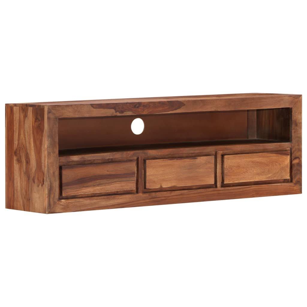 TV stolek Broomhill - masivní sheeshamové dřevo | 120x30x40 cm