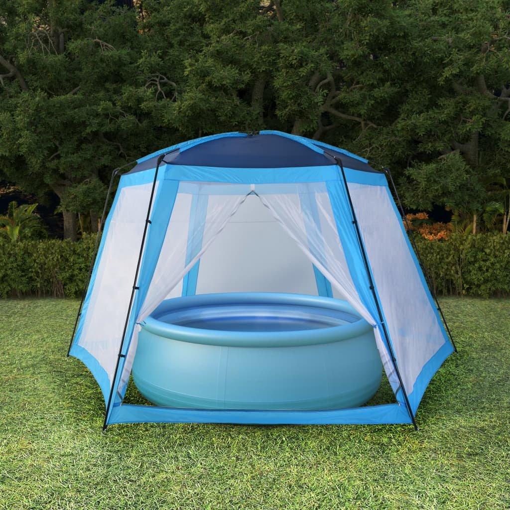 Stan na bazén textil - modrý   590x520x250 cm