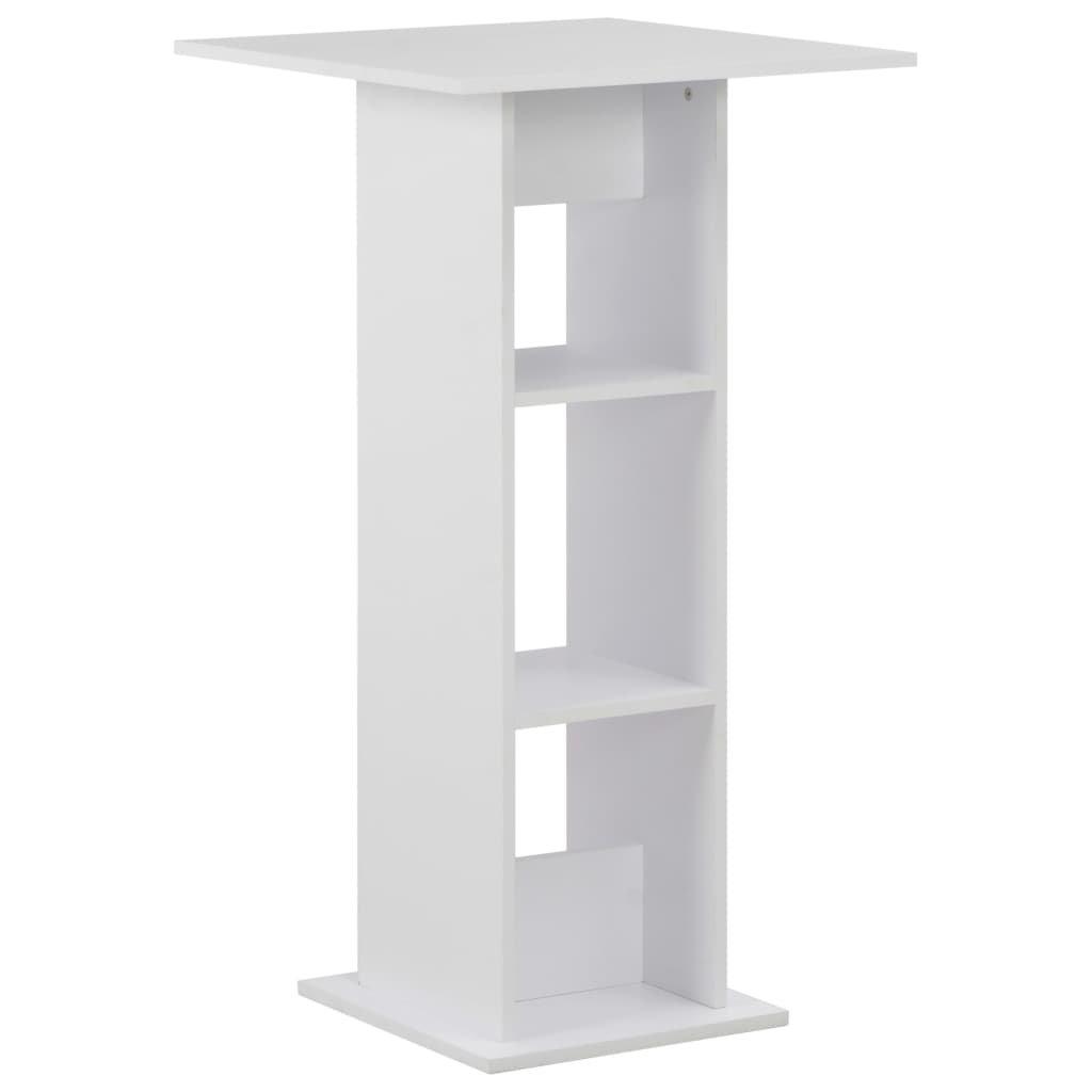 Barový stůl Elvis - bílý | 60x60x110 cm