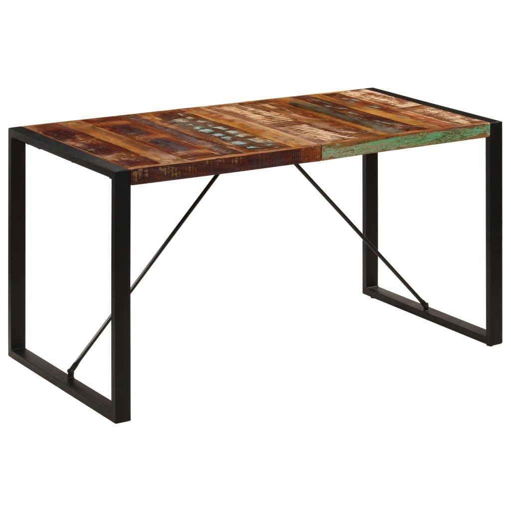 Jídelní stůl - masivní recyklované dřevo | 140x70x75 cm