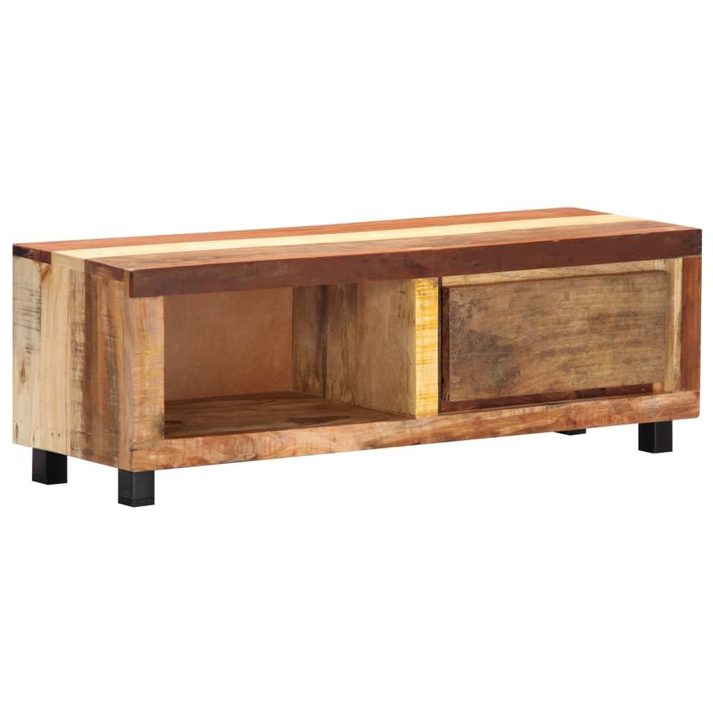 TV stolek - masivní recyklované dřevo   100x30x33 cm