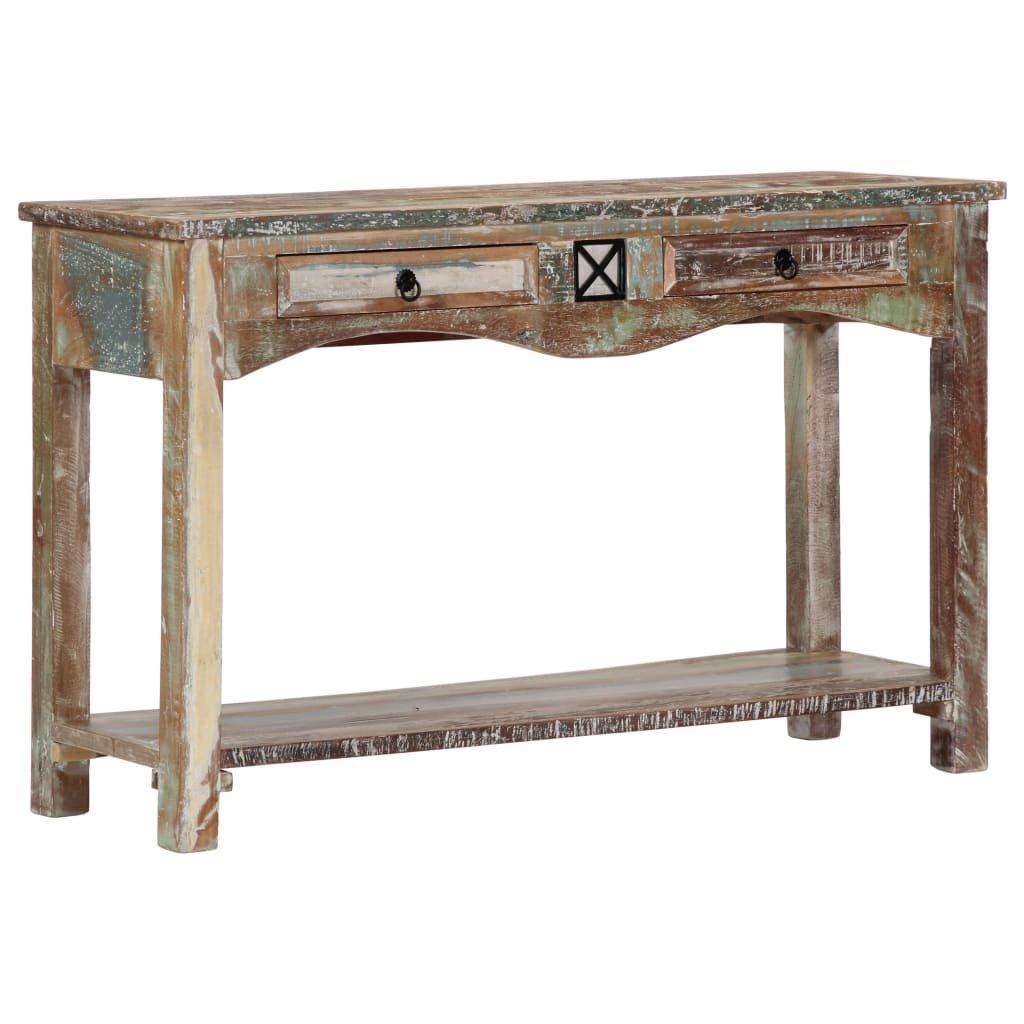 Konzolový stolek - masivní recyklované dřevo | 120x40x75 cm