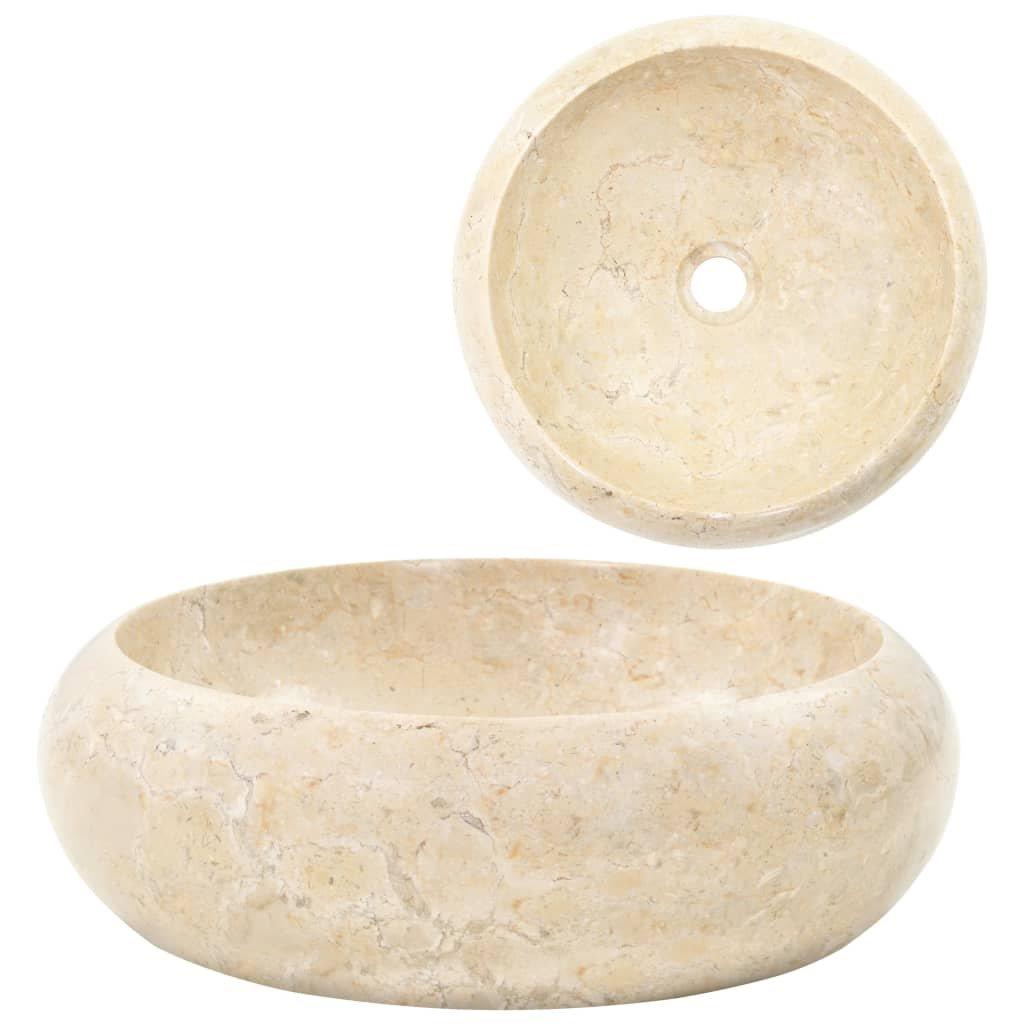 Umyvadlo - mramor - krémové | 40x12 cm