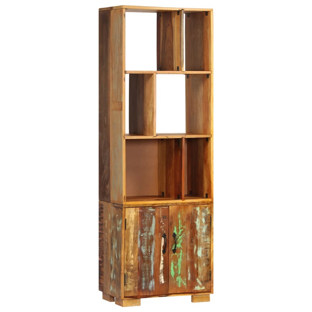 Police na knihy - masivní recyklované dřevo   60x35x180 cm