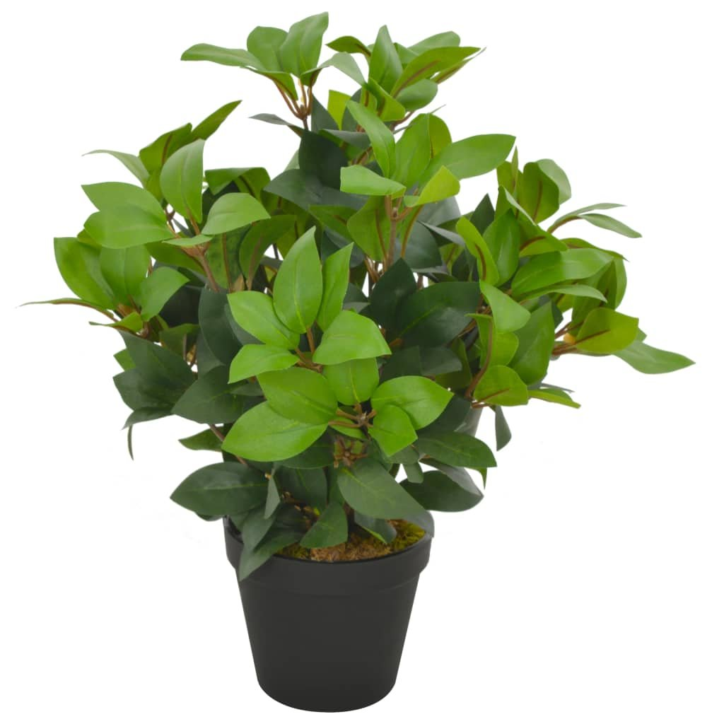 Umělá rostlina vavřín vznešený s květináčem - 40 cm   zelená