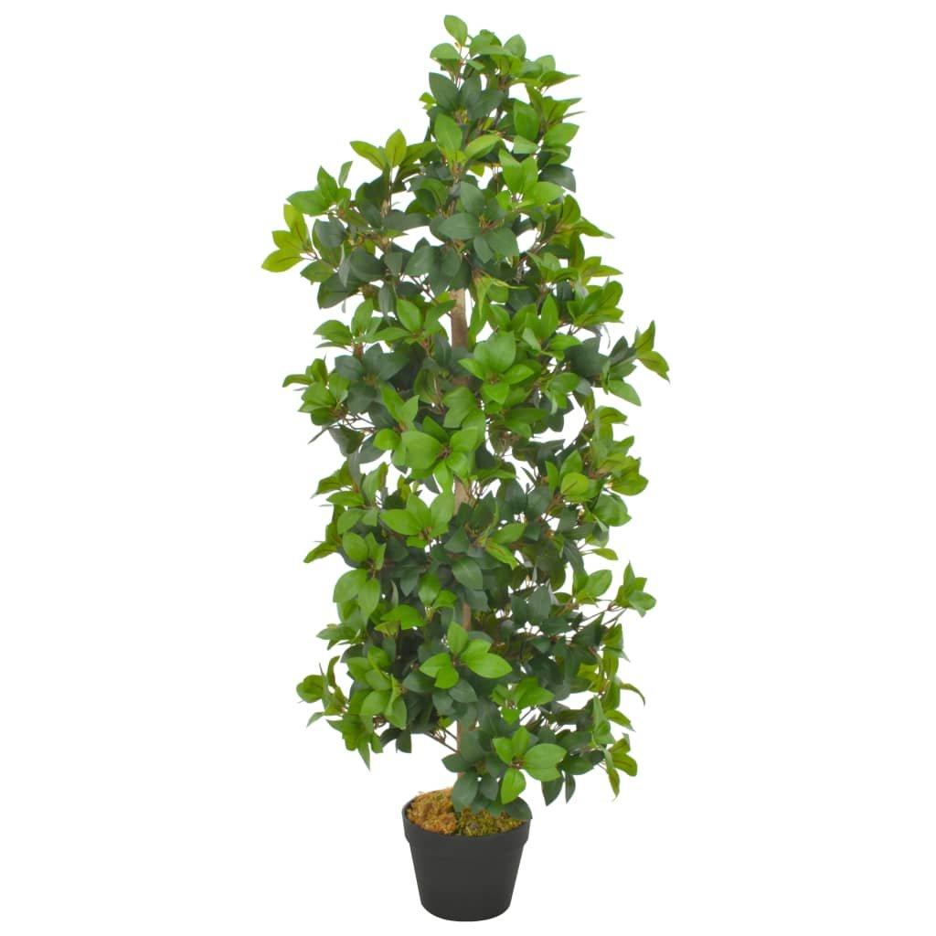 Umělá rostlina vavřín vznešený s květináčem - 120 cm | zelená