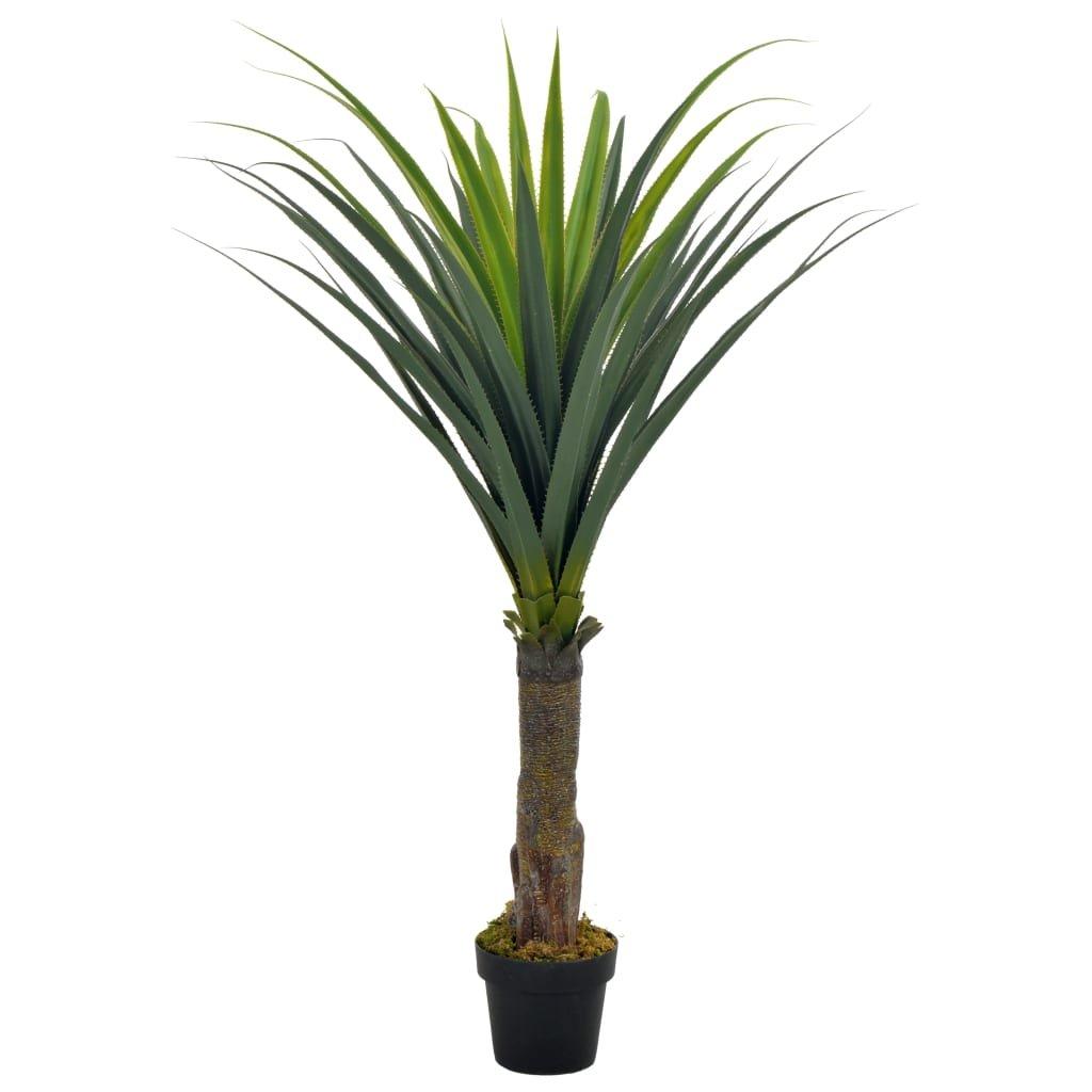 Umělá rostlina juka s květináčem - 145 cm | zelená