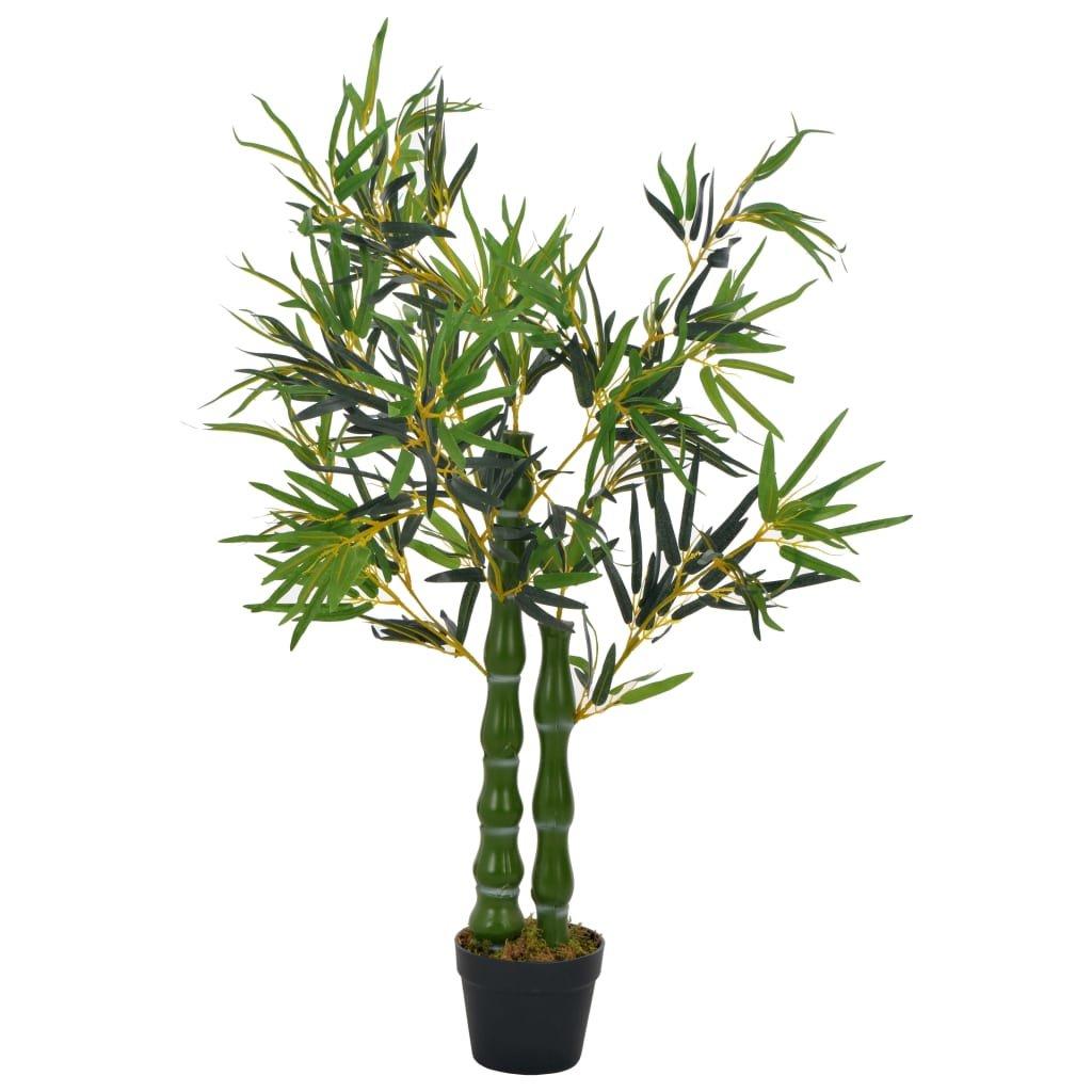 Umělá rostlina bambus s květináčem - 110 cm | zelená