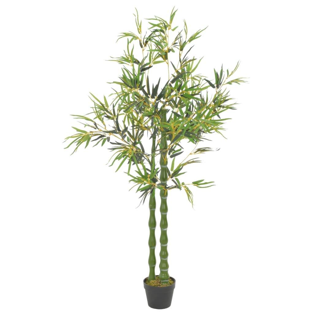 Umělá rostlina bambus s květináčem - 160 cm | zelená