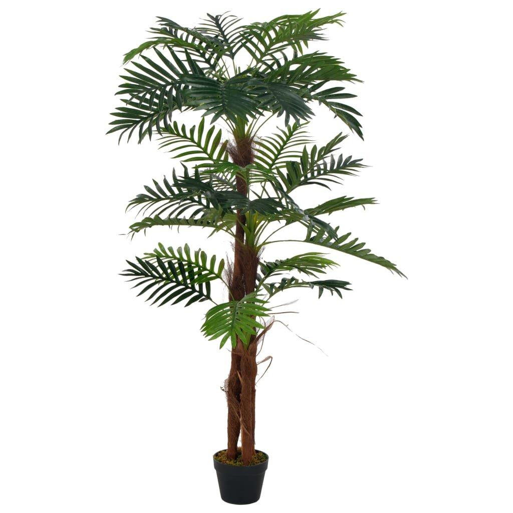 Umělá rostlina palma s květináčem - 165 cm | zelená
