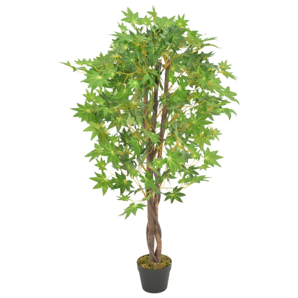 Umělá rostlina javor s květináčem - 120 cm   zelená