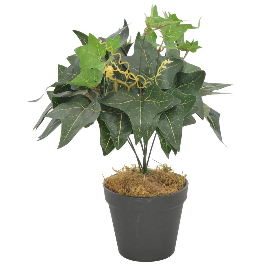 Umělá rostlina břečťan s květináčem - 45 cm   zelená
