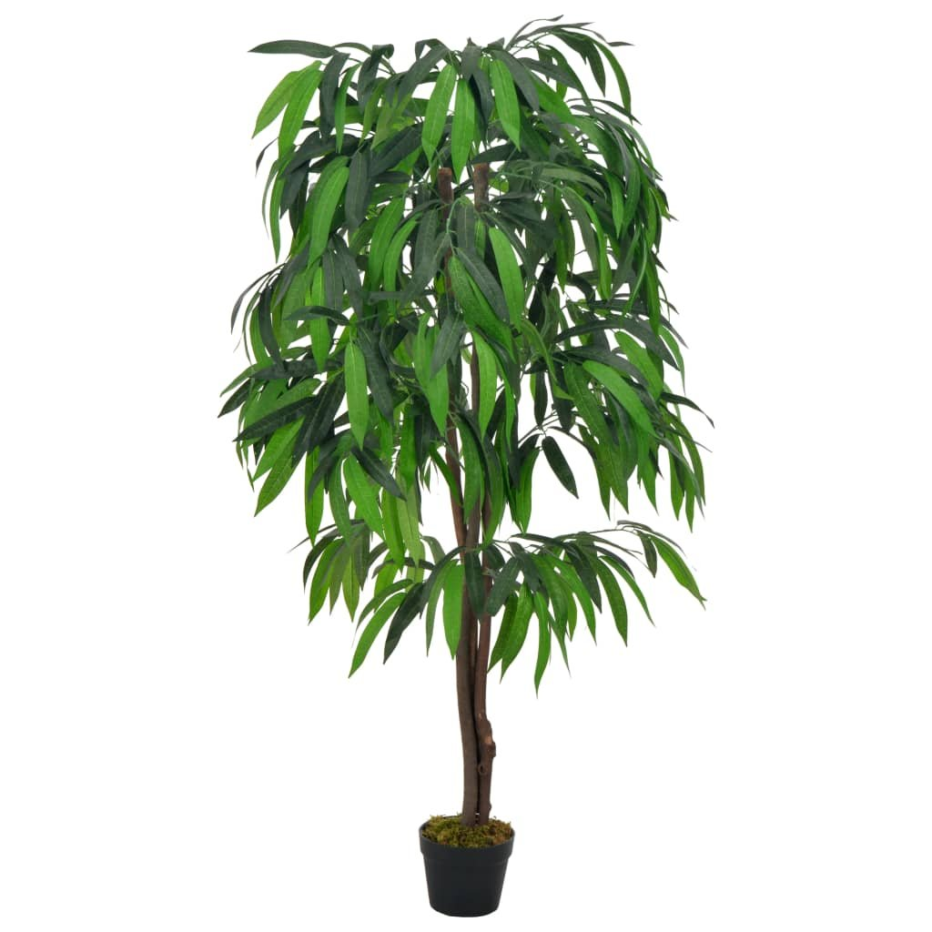 Umělá rostlina mangovník s květináčem - 140 cm | zelená