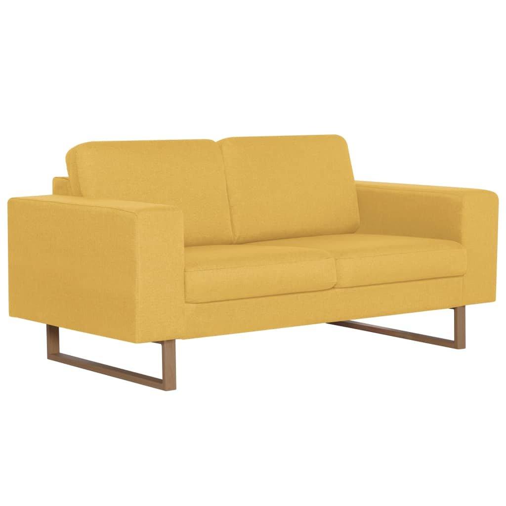 2-místná pohovka - textilní čalounění | žlutá