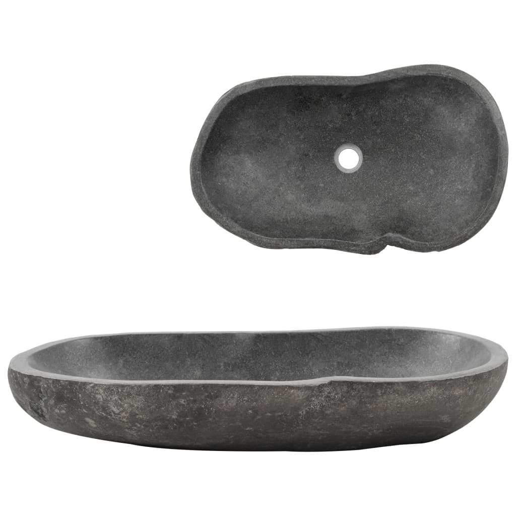 Umyvadlo - říční kámen - oválné | 60–70 cm