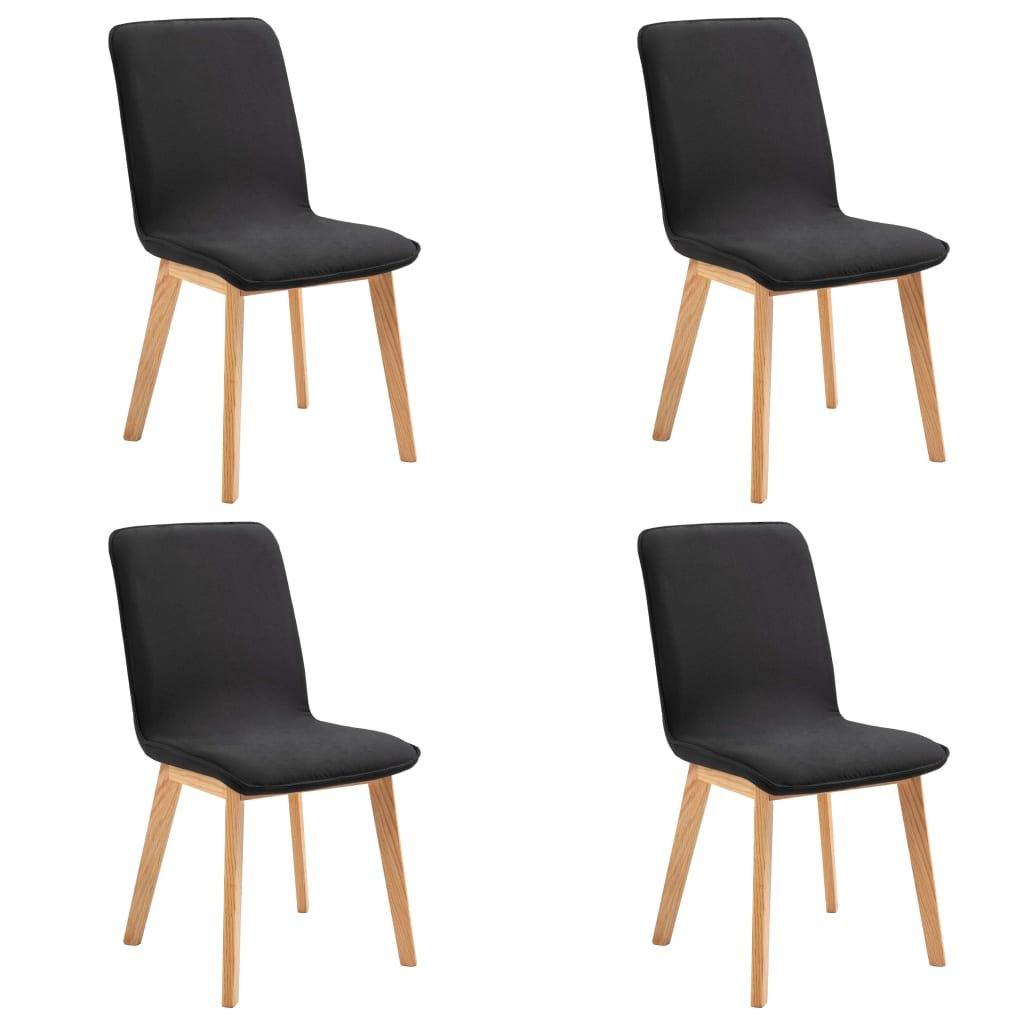 Jídelní židle Bronte - 4 ks - textil | černé
