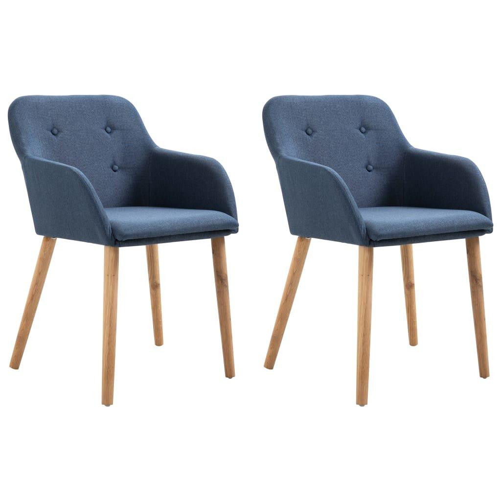 Jídelní židle Rincon - 2 ks - textil | modré