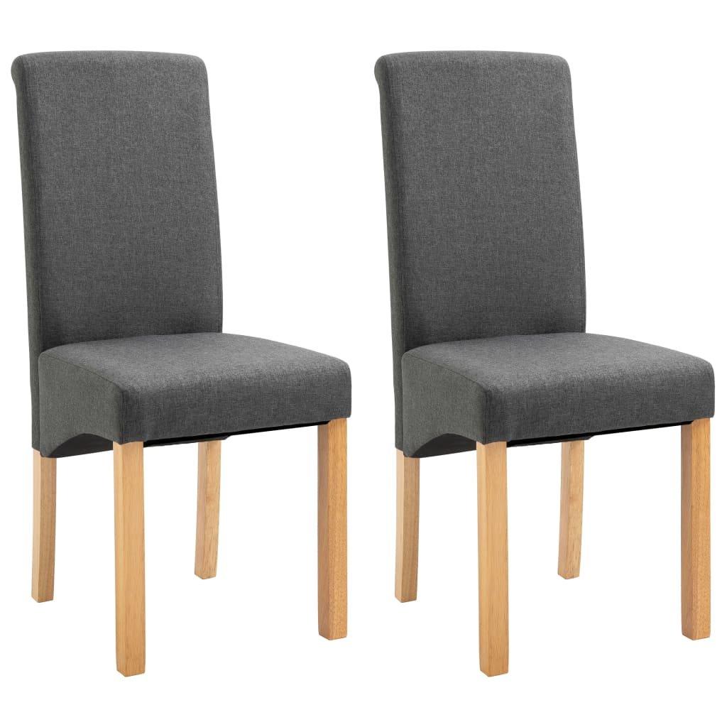 Jídelní židle Botna - 2ks - textil | šedé
