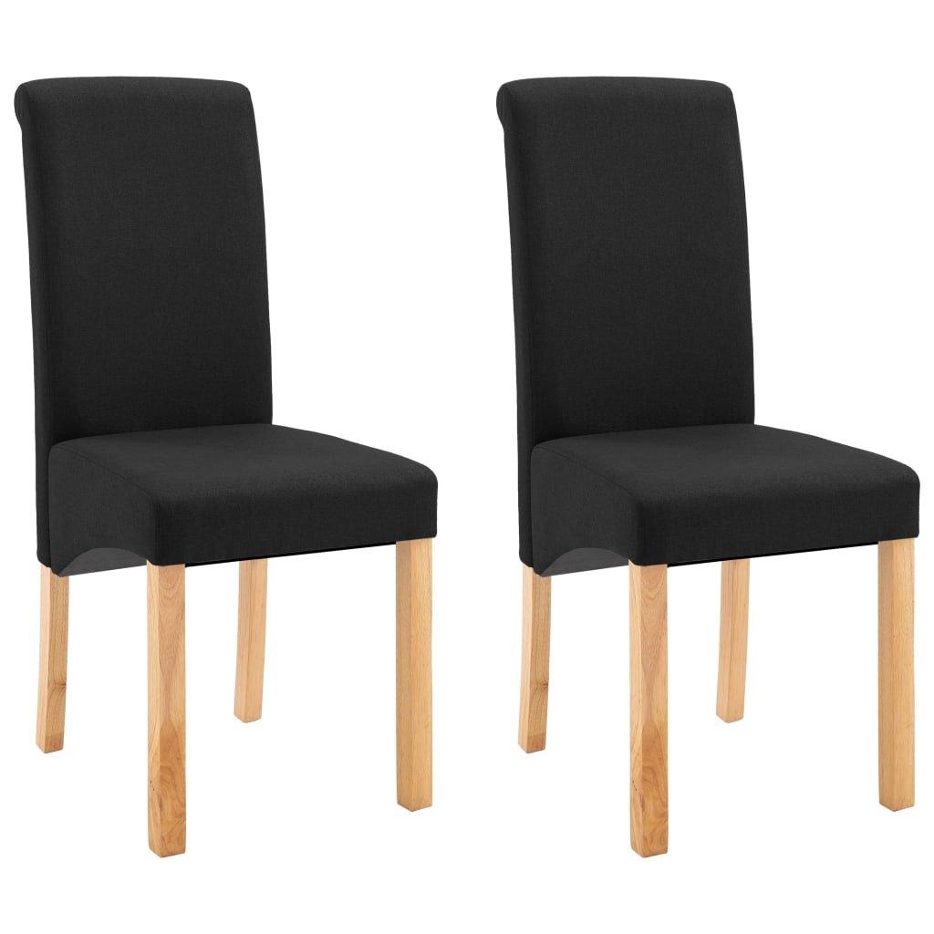 Jídelní židle Botna - 2ks - textil | černé