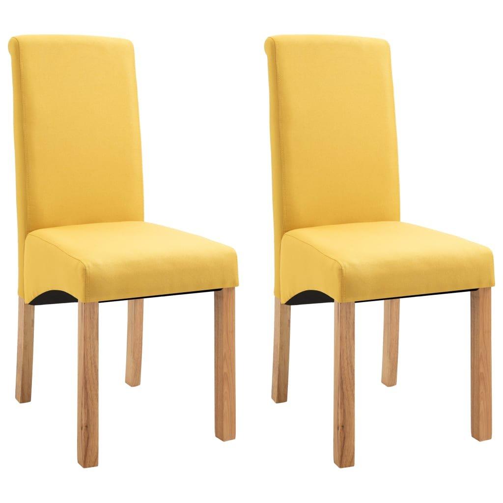 Jídelní židle Botna - 2ks - textil | žluté