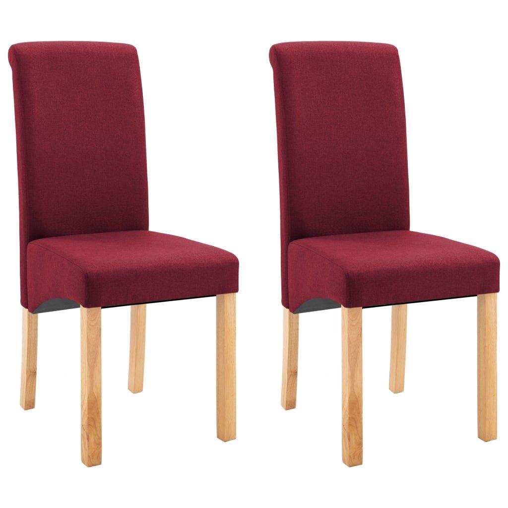 Jídelní židle Botna - 2ks - textil | červené