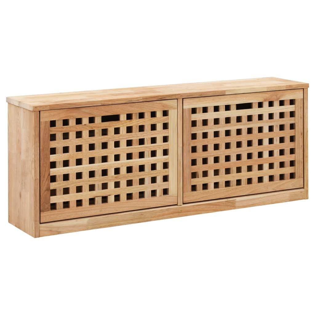 Botníková lavice - masivní ořechové dřevo   94x20x38 cm