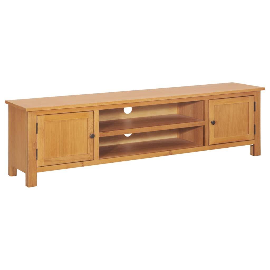 TV stolek Lucker - masivní dubové dřevo   165x36x46 cm
